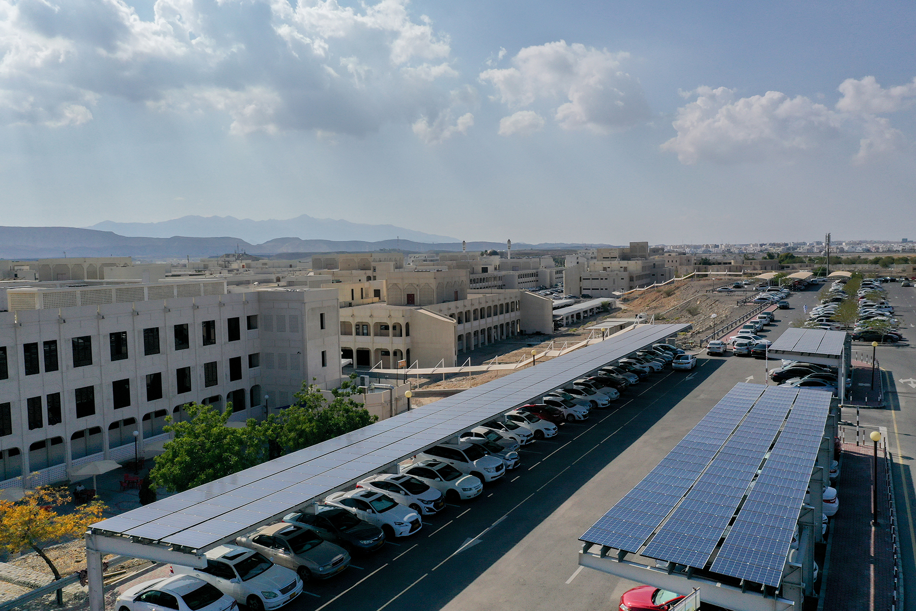 Solar Energy Car Parking at the College of Engineering at Sultan Qaboos University